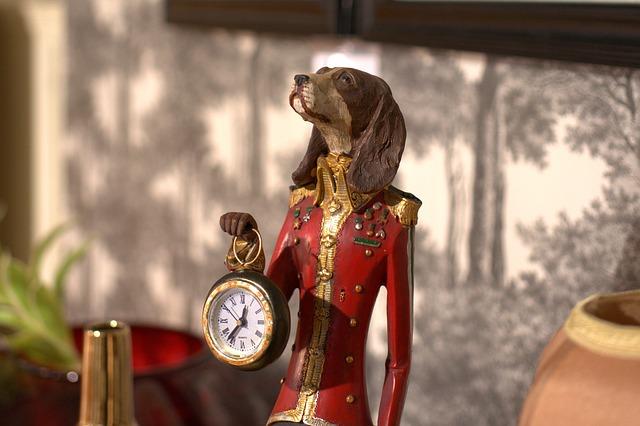 dog clock